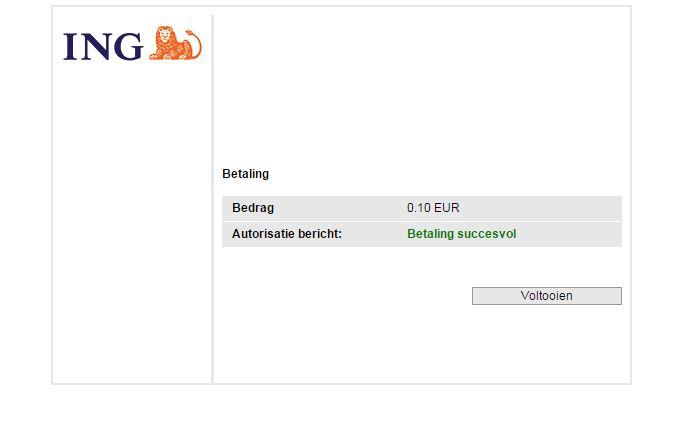 Betalen met iDeal - Stap 4